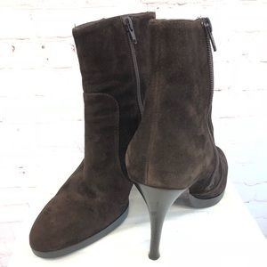 VIA SPIGA Woman's Brown Suede Ankle Boots